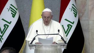"""El papa Francisco pide """"que callen las armas"""" en histórica visita a Irak"""