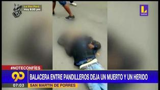SMP: enfrentamiento entre pandillas deja un muerto y un herido