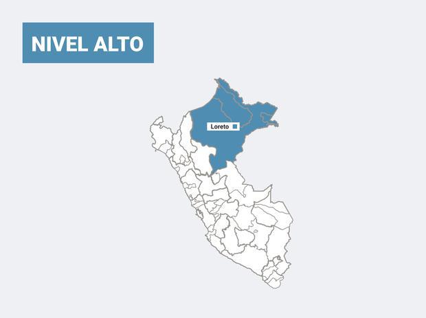 Las provincias que se encuentran en nivel de alerta alto. (Foto: Gob.pe)