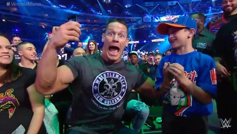 John Cena compartió con miles de fanáticos desde el WrestleMania 34.
