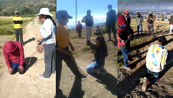 Huancayo: Ronderos sorprenden a jóvenes bebiendo en cuarentena y hacen que sus padres los azoten.