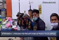 Lurín: intervienen a 13 personas por presunto robo de camión que contenía productos de limpieza   VIDEO