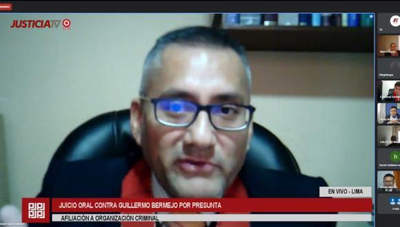 La fiscalía pidió 20 años prisión contra Guillermo Bermejo, acusado por pertenencia y afiliación terrorista a los remanentes de Sendero Luminoso del Vraem, entre el 2008 y marzo del 2009. (Foto: Justicia TV)