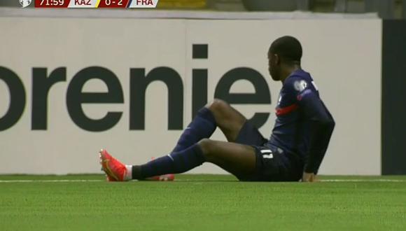 Ousmane Dembélé y su 'blooper' en tiro de equina de la selección de Francia.