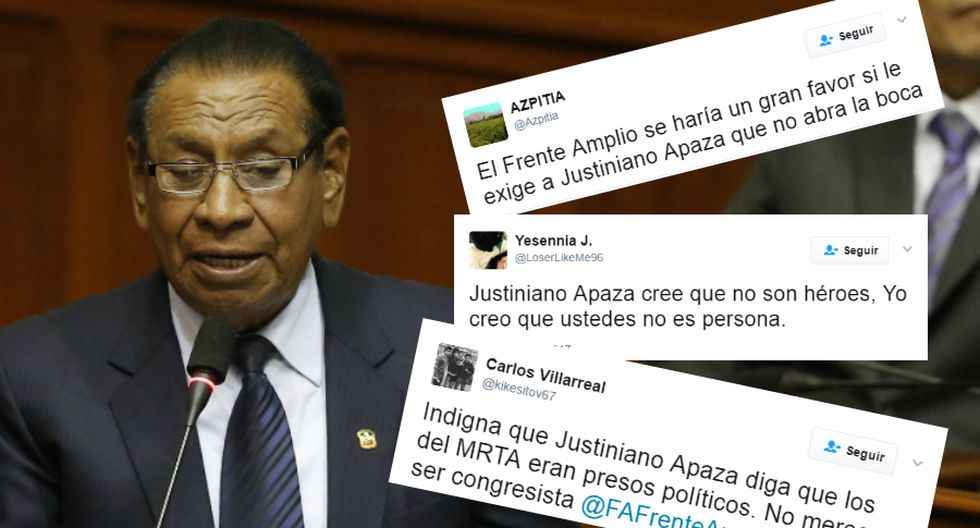 Justianiano Apaza es criticado en las redes sociales.