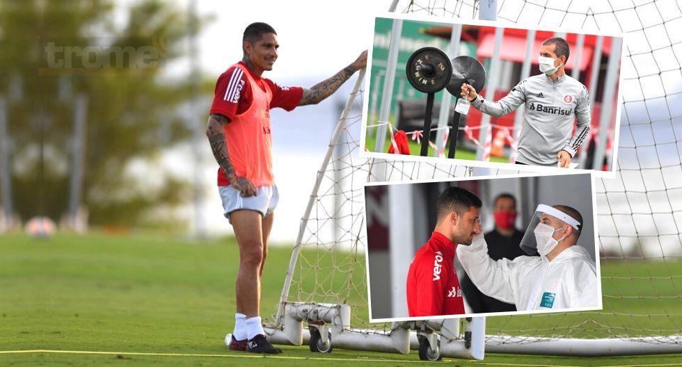 Paolo Guerrero entrena con Inter de Porto Alegre y paso pruebas contra COVID-19