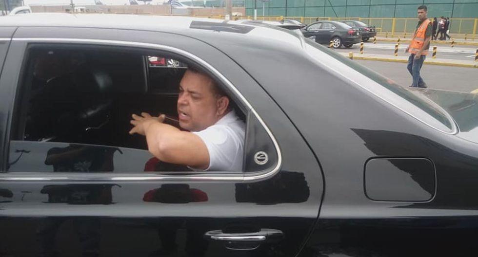 Andrés Hurtado 'Chibolín' llegó al aeropuerto Jorge Chávez tras ser liberado en Venezuela.