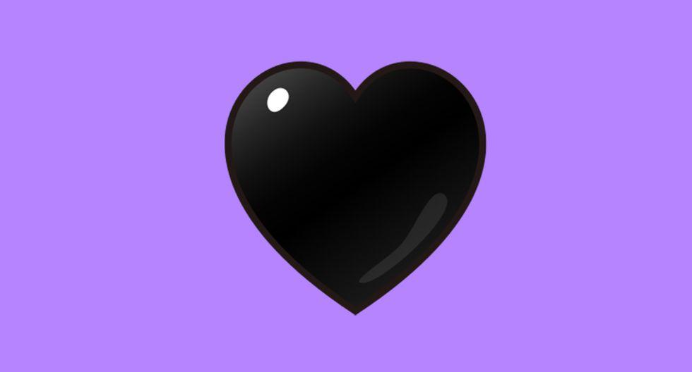 ¿Qué es realmente el corazón negro de WhatsApp? Aquí te explicamos cuándo debes usarlo. (Foto: Emojipedia)