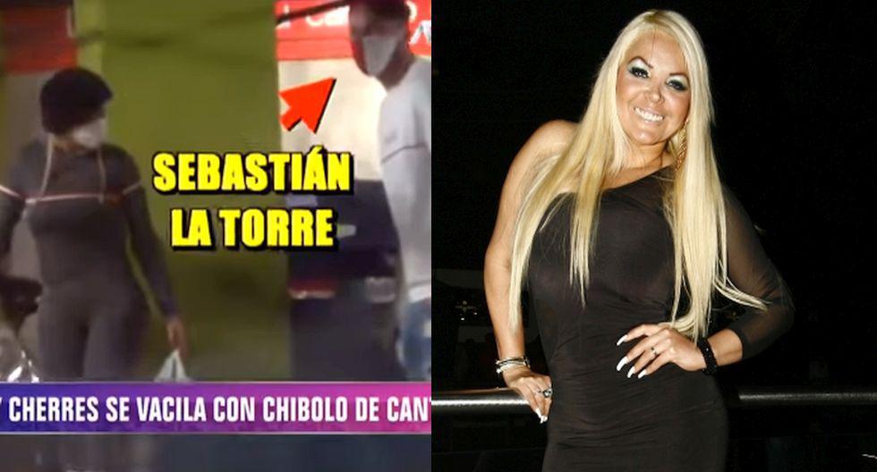 Shirley Cherres fue ampayada con el futbolista Sebastián La Torre. (Magaly Tv. La Firme/Trome)