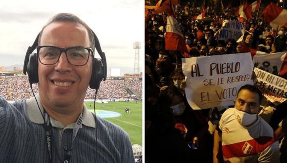 Milagros Llamosas, esposa de Daniel Peredo, pidió respeto para el periodista deportivo. (Foto: @danielperedo17 / @Photo.GEC)