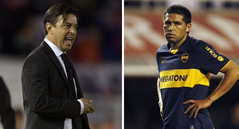 Marcelo Gallardo y Román Riquelme