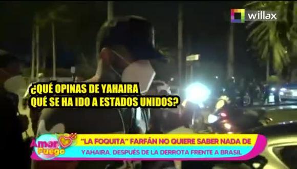 Jefferson Farfán: Así reaccionó cuando le preguntaron por Yahaira Plasencia - TROME (Video: Willax)