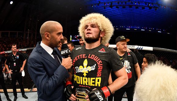 Khabib afirmó que no se ha bajado de la pelea. (UFC)