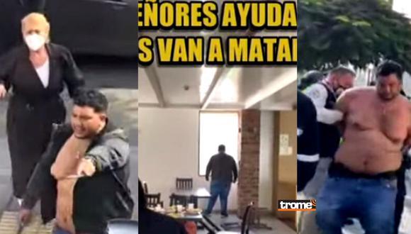 'Loco' desata el pánico en pollería Don Tito de La Molina  | Foto: Composición de Trome con capturas de ATV Noticias