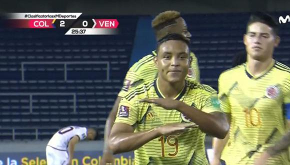 Gol de Luis Muriel en Colombia vs Venezuela por Eliminatorias Qatar 2022