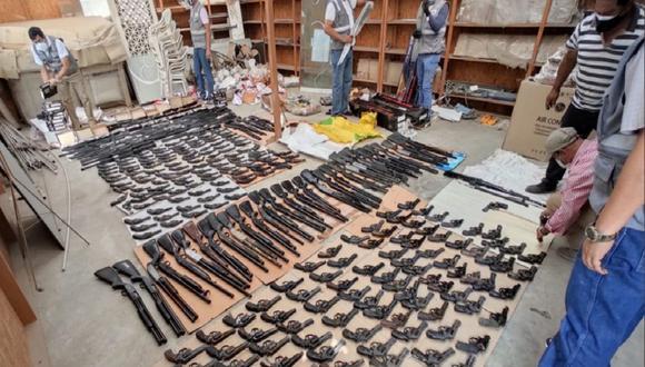 Las armas decomisadas por Sucamec estaban en un almacén ubicado en Lurín.