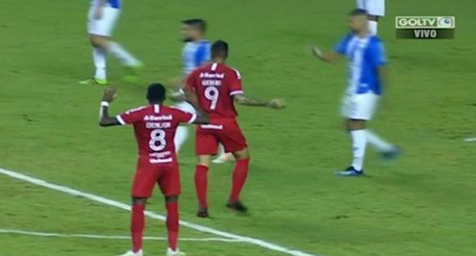 Paolo Guerrero marcó GOLAZO con genial gambeta y misil al ángulo en Inter vs Paysandu pero fue anulado por VAR