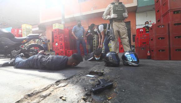 Sujetos armados iban a robar siete mil soles pero cayeron a balazos. | Foto: Gonzalo Córdova
