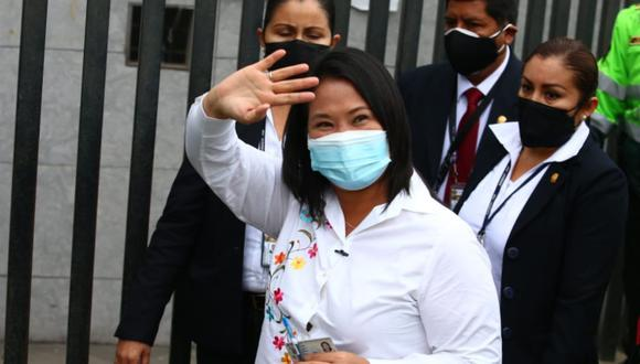 Keiko Fujimori, candidata presidencial de Fuerza Popular.