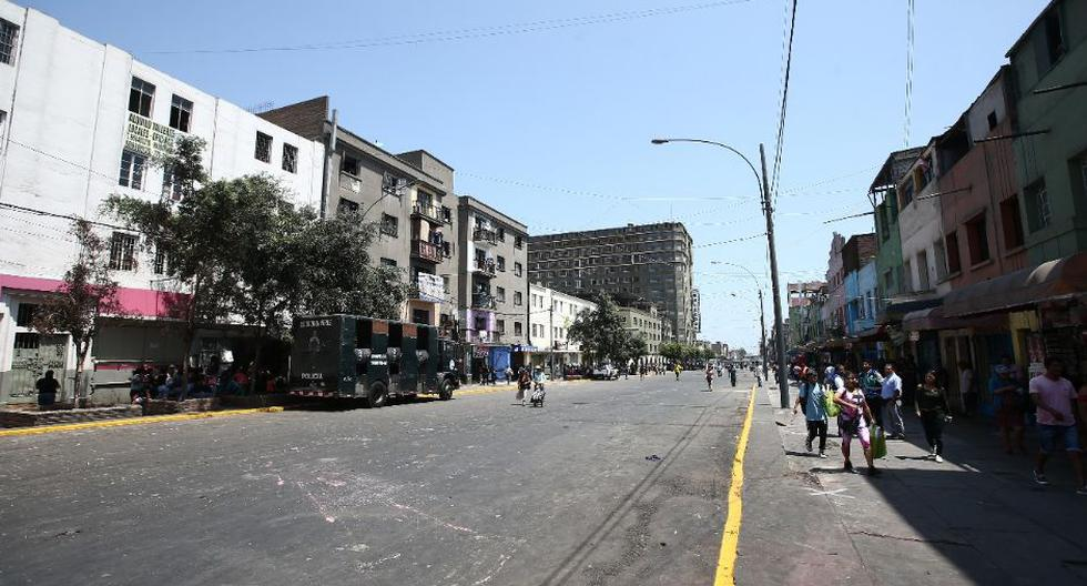 Así luce la Av. 28 de Julio tras desalojo. (Foto: Jesús Saucedo/GEC)