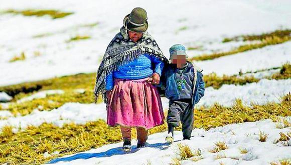 Ayacucho: Más de 13 mil pobladores de 16 distritos en riesgo muy alto por bajas temperaturas, advirtió Cenepred. (foto referencial)