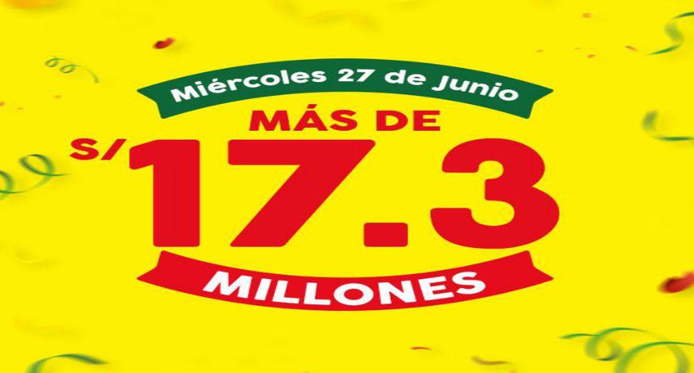 Lotería de La Tinka acumuló pozo de más de 17 millones, el más alto desde hace cinco años.