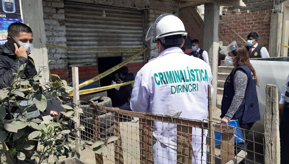 El llantero Emiliano Leoncio Vega Leandro (55), fue hallado sin vida y con el cuerpo quemado. (foto: TROME)