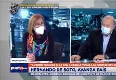 """De Soto sobre Pedro Castillo: """"Debe probar que es independiente de Cerrón. No tiene que ser segundón"""""""