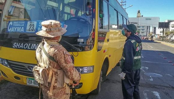 Arequipa: 30 inspectores de transportes de la municipalidad provincial de Arequipa  dieron positivo a la prueba de COVID-19.