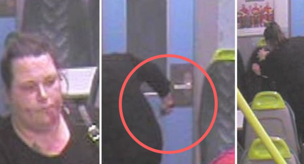 Una mujer se ensañó con su mejor amiga en un tren del Reino Unido. (Capturas: YouTube)