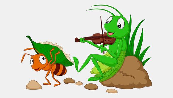 La cigarra canta, mientras la hormiga trabaja.