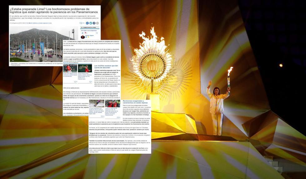 Panamericanos: Chile criticó, cuestionó, insultó y llenó de calificativos negativos a los Juegos Lima 2019
