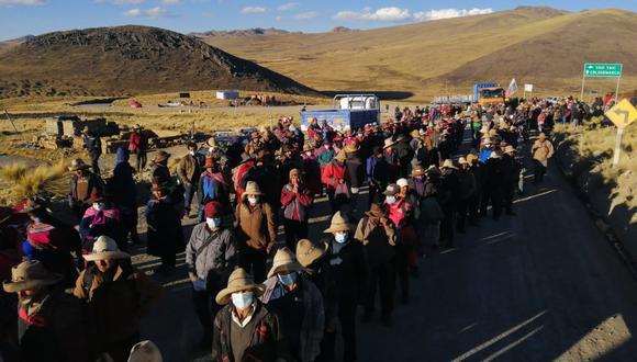 Las comunidades campesinas de Chumbivilcas habían bloqueado el corredor minero desde el 23 de julio. (Derechos Humanos Sin Fronteras Cusco)