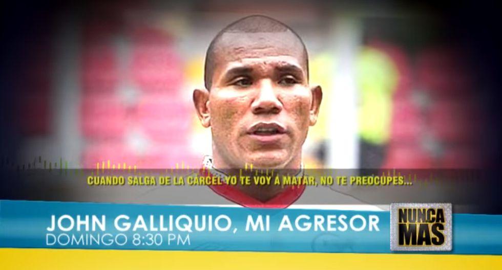 John Galliquio amenaza de muerte a su exesposa. (Captura de video)