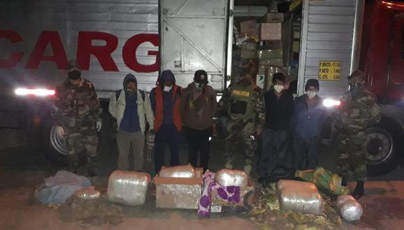 Ica: decomisan más de 47 kilos de marihuana que era transportado en camión  (Foto: Dirandro).