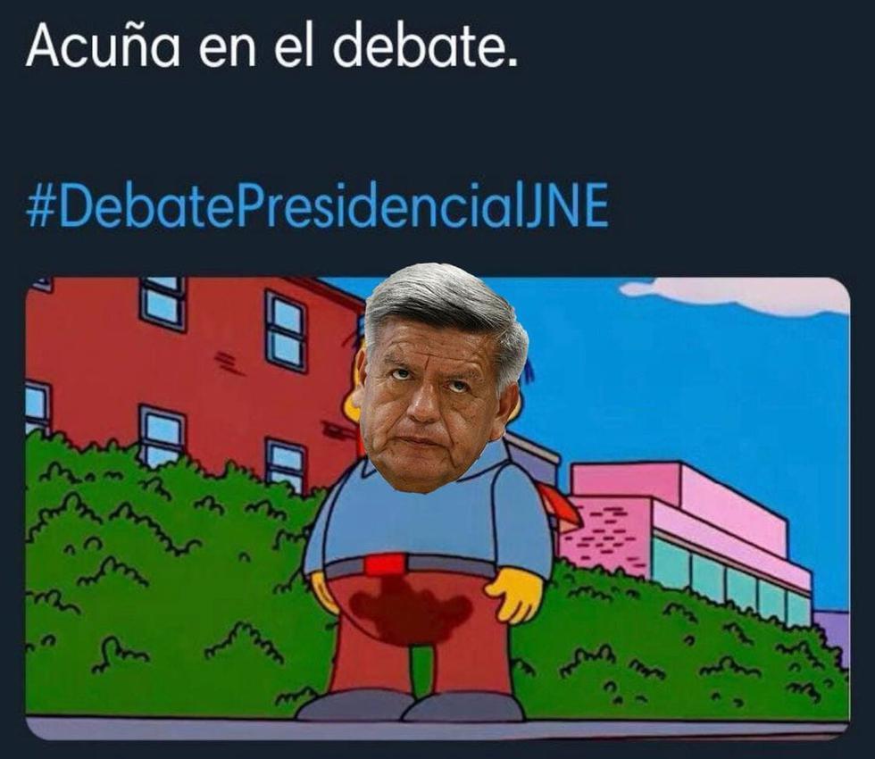 César Acuña es el blanco de los memes por su participación en el Debate presidencial JNE