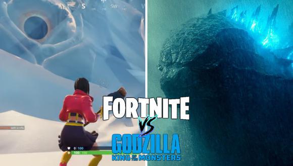 "¿Godzilla será el próximo ""invitado"" en Fortnite? (Foto: Fortnite Insider en YouTube/Warner Bros.)"
