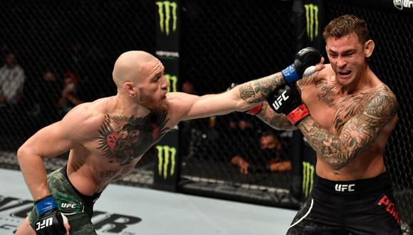 UFC tiene en planes hacer la tercera pelea entre Conor McGregor y Dustin Poirier. ( Agencias)