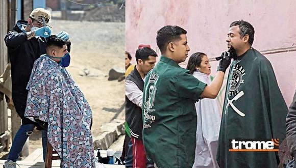 Barberos cortan gratis el cabello en zonas populares de Lima