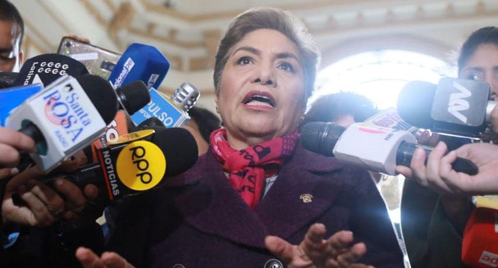 Luz Salgado arremete contra el Ejecutivo. Foto: GEC   Juan Ponce