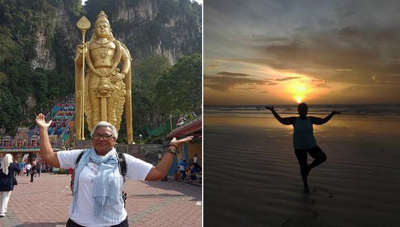 Esta abuelita decidió irse de su casa, no cuidar a sus nietos y cumplir su sueño de viajar por el mundo (Foto: Instagram)