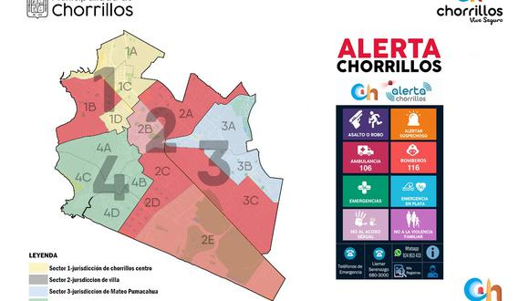 App 'Alerta Chorrillos' estará disponible para cualquier ciudadano, en especial para los vecinos del distrito que quieren que la delincuencia disminuya.