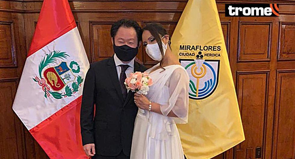 Kenji Fujimori se casó esta tarde en la Municipalidad de Miraflores