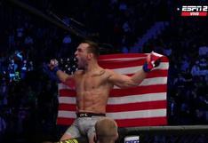 Michael Chandler, excampeón de Bellator, debutó con nocaut en el UFC y apunta al título   VIDEO