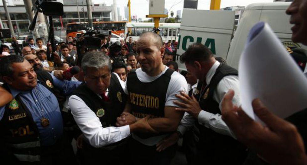 Adolfo Bazán intento sobornar a los policías. (César Grados)