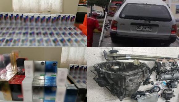 Tacna: Vehículo lleno de contrabando se despistó en su intento por escapar de la PNP (Foto: PNP)