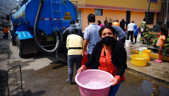 Sedapal informó que para este miércoles 15 de setiembre se repondría el servicio de agua potable en el distrito de San Juan de Lurigancho. (Foto: Hugo Curotto/@photo.gec)
