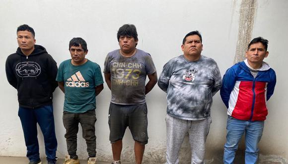 Policía intervino a cinco presuntos delincuentes. | Foto: Policía Nacional