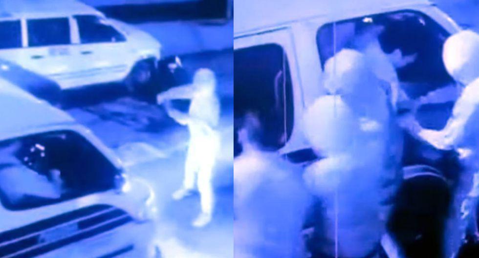 Seis delincuentes asaltan combi en cuestión de segundos (TROME)