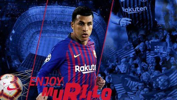 Barcelona tiene opción de comprar el pase de Jeison Murillo (Foto: FC Barcelona).